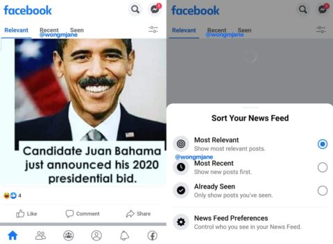 Facebook tests a tabbed News feed with easier access to 'Most Recent' and 'Already Seen' feeds