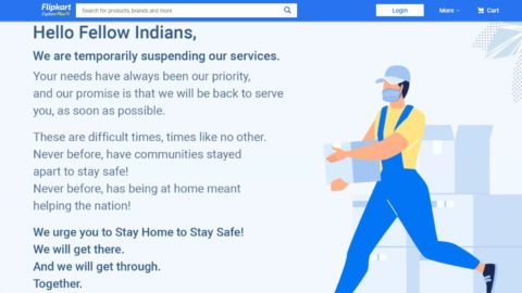 Flipkart suspends all operations, Amazon to only deliver essentials as India locks down